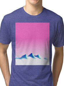 Pink Mountain Aesthetics Vaporwave Tri-blend T-Shirt