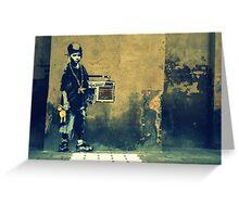 Banksy New Skool  Greeting Card
