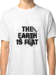 Flat earth, plane truth, reality Classic T-Shirt