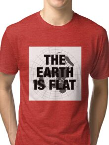 Flat earth, plane truth, reality Tri-blend T-Shirt