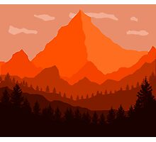 Orange Landscape - Flat Photographic Print
