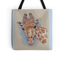Cute Giraffe: Animal, Colour Pencil Drawing Tote Bag