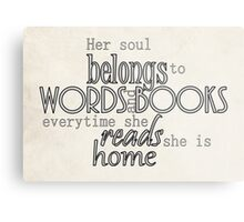 Her Soul Belongs to Words Metal Print