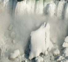 Aerial View of Niagara Falls with Snow and Ice Sticker