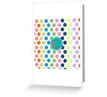Polka Dot G Greeting Card