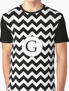 G Black Chevron Graphic T-Shirt