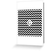 G Black Chevron Greeting Card