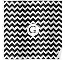 G Black Chevron Poster