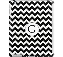 G Black Chevron iPad Case/Skin