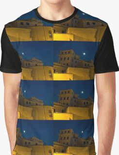 Magical Rome, Italy - Yellow Facades and Moonlight Graphic T-Shirt