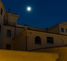 Magical Rome, Italy - Yellow Facades and Moonlight Sticker