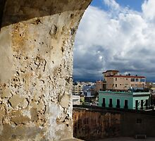 Caribbean Colors of San Juan, Puerto Rico From a Window of San Cristobal Castle by Georgia Mizuleva