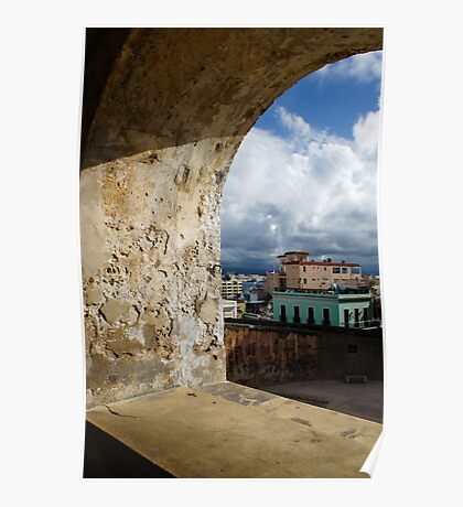 Caribbean Colors of San Juan, Puerto Rico From a Window of San Cristobal Castle Poster