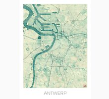 Antwerp Map Blue Vintage Unisex T-Shirt