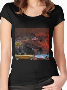 Death Valley California, USA Women's Fitted Scoop T-Shirt