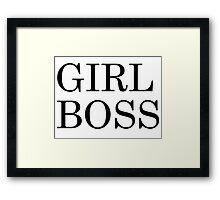 Girl Boss Framed Print