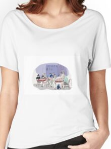 street, coffee house Women's Relaxed Fit T-Shirt