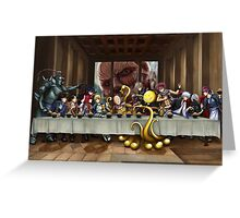 Anime Last Supper Greeting Card