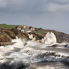 Stormy Folkestone by Ian Hufton