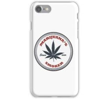 Marijuana's smoker iPhone Case/Skin