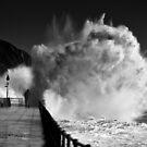 Stormy Folkestone.  by Ian Hufton