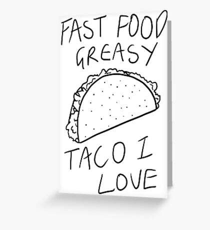 Taco Bell Saga Greeting Card