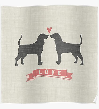 Coonhounds Love Poster