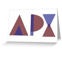 Alpha Rho Chi Greeting Card