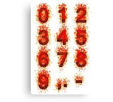 Bloody digits Canvas Print