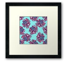 Abstract floral seamless pattern Framed Print