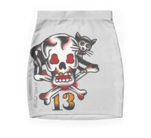 Lucky Cat and Skull Mini Skirt