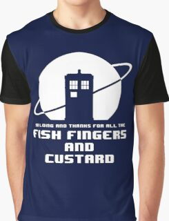 Fish Fingers and Custard White Graphic T-Shirt
