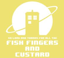 Fish Fingers and Custard White Kids Clothes