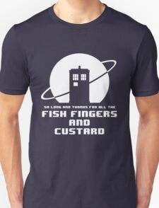 Fish Fingers and Custard White Unisex T-Shirt