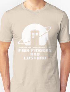 Fish Fingers and Custard White Unisex T-Shirt