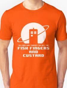 Fish Fingers and Custard White T-Shirt