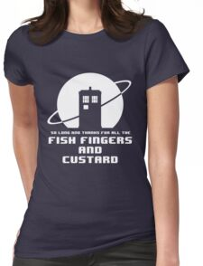 Fish Fingers and Custard White Womens Fitted T-Shirt