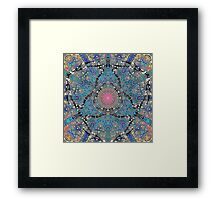 Tasty Pink Center To A Black Heart Framed Print