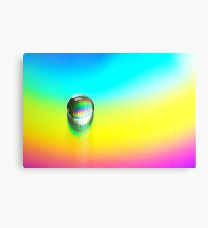 colorful macro abstract waterdrop  Canvas Print