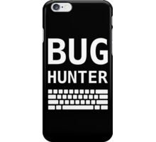 BUG HUNTER with Keyboard - Design for Test Engineers White Font iPhone Case/Skin