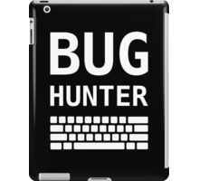 BUG HUNTER with Keyboard - Design for Test Engineers White Font iPad Case/Skin