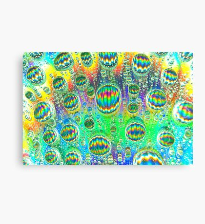abstract waterdrop photography macro colorful Canvas Print