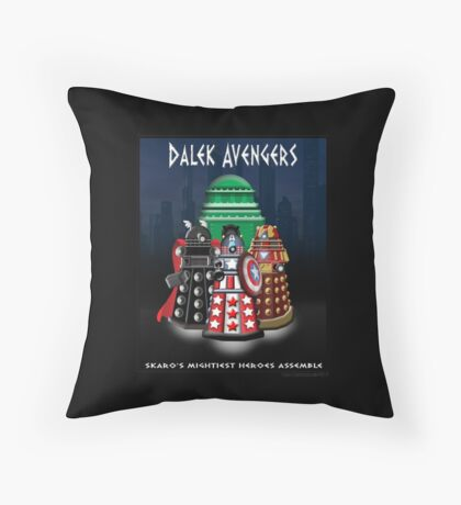Marvel at the Su-WHO-per-heroes Throw Pillow