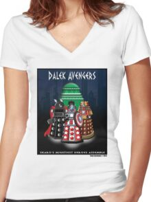 Marvel at the Su-WHO-per-heroes Women's Fitted V-Neck T-Shirt