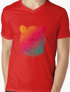Warm Tiger Mens V-Neck T-Shirt