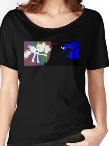 Celestia And Nightmare Moon {Glitched} Women's Relaxed Fit T-Shirt