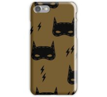 Kids pattern with super hero mask iPhone Case/Skin