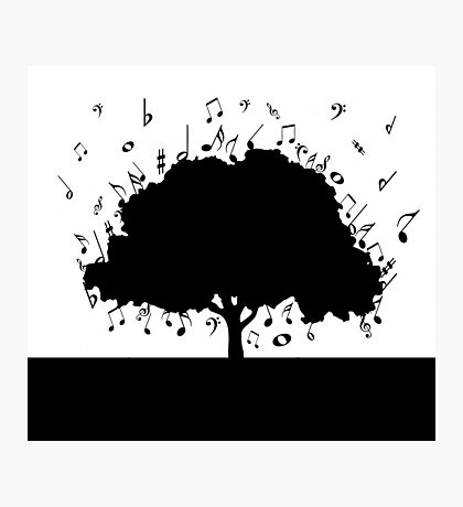 Musical notes design Photographic Print