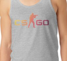 Small CS:GO Logo - Fade Tank Top