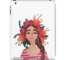 Flower Crown Watercolor iPad Case/Skin